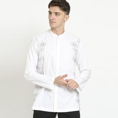 JOBB Syibam Baju Koko Pria - Putih