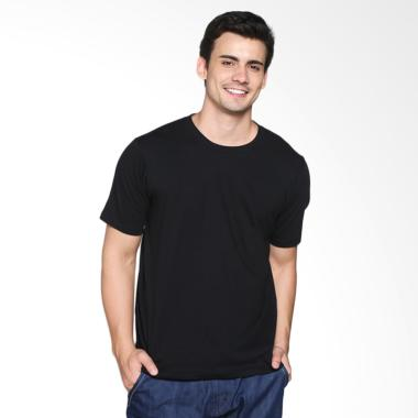 Katoen.Id T-Shirt / Kaos Polos Pria - Black