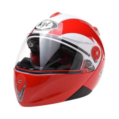 KYT X Rocket Retro Helm Full Face - White Red