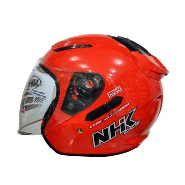 NHK R1 Helm Half Face - Solid Royal Red