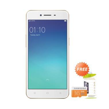 OPPO A37F Smartphone - Gold [16GB/ 2GB] + Free MMC 16GB + Tempered