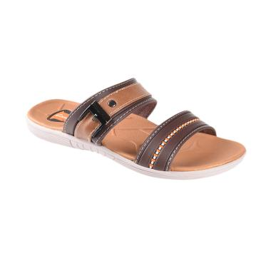 Carvil Rembo-822T DK Kids Boy Casual Sandal Anak - Brown