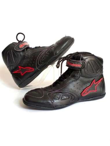 harga Sepatu Motor Touring Pria Casual Bahan Kulit Sapi Asli Sepatu Alpin Harian Bikers Boot Balap Keren Leather 43 BLACK RED Blibli.com