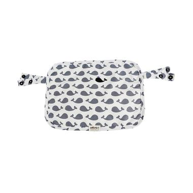 i-Angel Multi-Teething Pad Organic Cotton Pattern Dolphin White