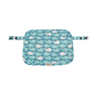 I-Angel Multi-Teething Pad Organic Cotton Pattern Dolphin Blue