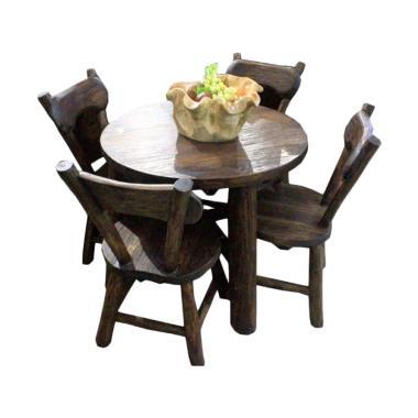 Sen Furniture Flinstone Set Meja Kursi