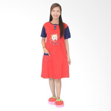 Aily 963 Daster Baby Doll Baju Tidur Wanita - Merah