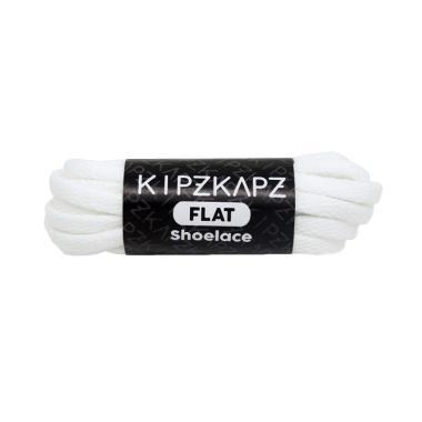 KipzKapz FS43 Flat Shoelaces Tali S ... -Laki - White NB [115 cm]