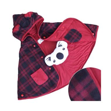 Cuddle Me Baby Cape Bolak-Balik Jaket Anak - Check Red