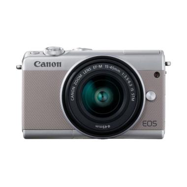 Canon EOS M100 Kit EF-M 15-45mm /EF-M22 STM Kamera Mirrorless - Grey