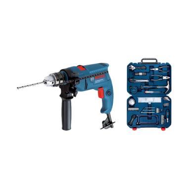 Bosch GSB 550 Mesin Bor dan Toolkit Multifungsi [108 pcs]
