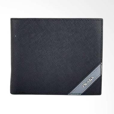 Prada Dompet Pria - Black [PRD SUA-2619]