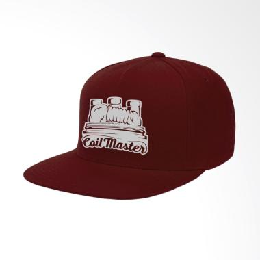 IndoClothing Coil Master Topi Snapback Pria - Maroon