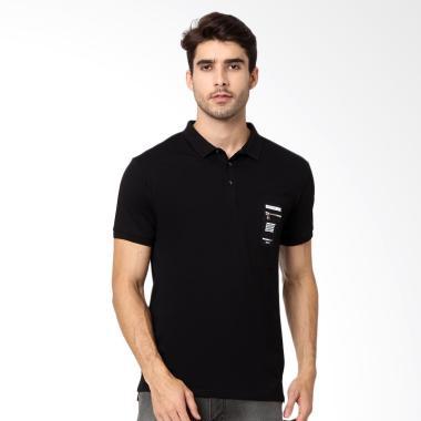 RBJ Polo Shirt Pria - Hitam [256750391]