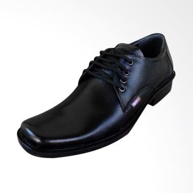 Kickers Kulit Asli Bertali Sepatu Pantofel Pria - Hitam