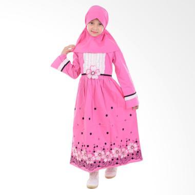 Jesca and Paul Nadya 216 Gamis Baju Muslim Anak - Pink