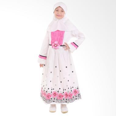 Jesca and Paul Nadya 216 Baju Muslim Anak - White