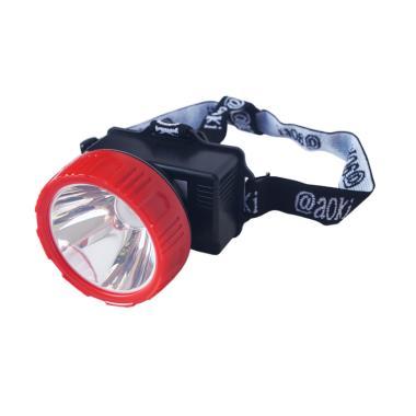 Aoki AK701 Premium Rechargeable Head Lamp Lampu Kepala - Merah