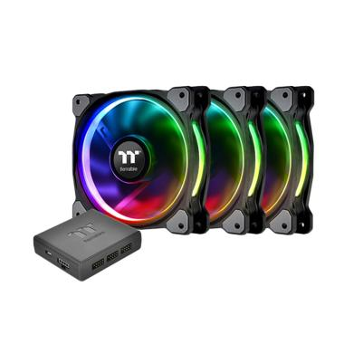 harga Thermaltake Ring Plus 12 RGB TT Premium Edition Radiator Fan [CL-F053-PL12SW-A/ 3 Pack] Blibli.com