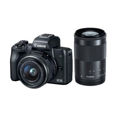 Canon EOS M50 Kit 15-45mm Kamera Mi ... Terpasang - Garansi RESMI