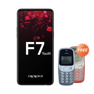 Oppo F7 Youth Smartphone - Black [6 ... ree Handphone Prince Pc-5