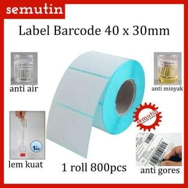 harga Kertas Thermal Label Barcode 40 x 30 mm 800pcs - Sticker Termal Printer Blibli.com