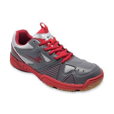 Eagle Marcus Sepatu Badminton - Abu-abu Merah