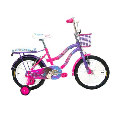 WIMCYCLE Tiffany Sepeda Anak - Pink [16 Inch]