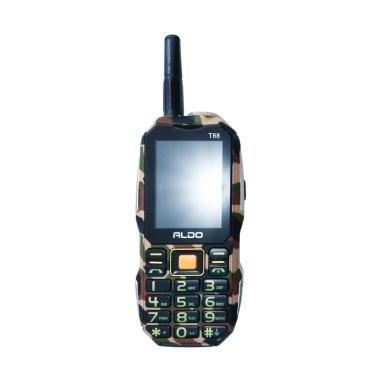 Aldo T88 Handphone - Doreng [Dual SIM/10000 mAh]