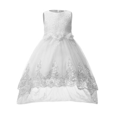 Party Dress Big Bow White