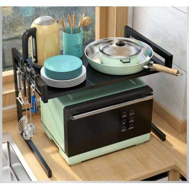 harga Rak Microwave Extendable Rak Microwave Rak Meja Dapur Adjustable Blibli.com