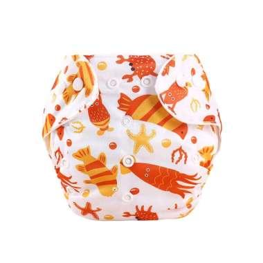 harga OEM ONE - P1 Motif POPOK Bayi Kain Kancing Cloth Diaper Clodi Bayi Dapat Dicuci / Popok Karakter BINATANG LAUT MERAH Blibli.com