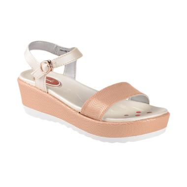 Carvil Follow-01TW Kids Girl Casual Sandal Anak - Stone White
