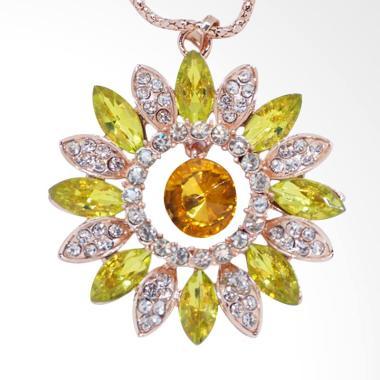 Me Time AKG0065 Kalung Korea Fashio ... on & Green Emerald - Gold