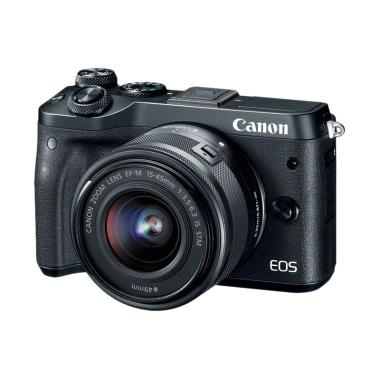 Canon EOS M6 Kit 15-45mm Kamera Mirrorless (Black)