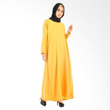 Hanalila Daily Hijab Milane Abaya Mustard Dress Muslim [All Size]