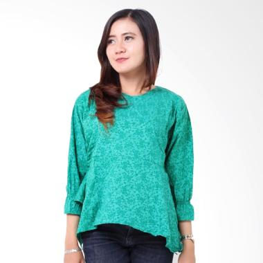 batik-distro_batik-distro-ba8465-blus-wanita-embos-a-line---hijau_full06 Review Harga Batik Modern Untuk Wanita Terlaris tahun ini