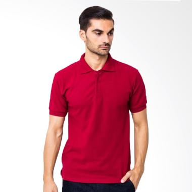 Yari's Fashion Kaos Kerah Polo Shirt - Merah Marun