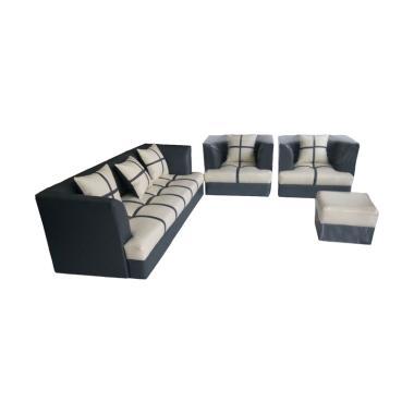 Sumber Rejeki Tipe 001 Kursi Sofa Marshmellow  - Black Krem