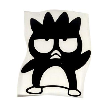 OEM Motif Penguin Bad Badtz Maru De ... klar Wall Sticker - Hitam