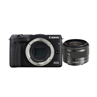 Canon EOS M3 Kit EF-M15-45mm Kamera Mirrorless - Black