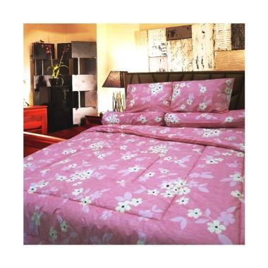 Berlian's AM053 Set Sprei - Pink [Single Size/120 x 200 x 20 cm]