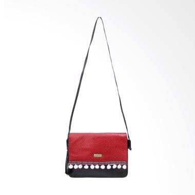 Hers H1284 Anggun Sling Bag Tas Wanita - Red Black