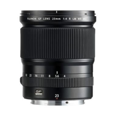 Fujinon GF 23mm f/4 R LM WR Lensa Kamera for GFX - Hitam