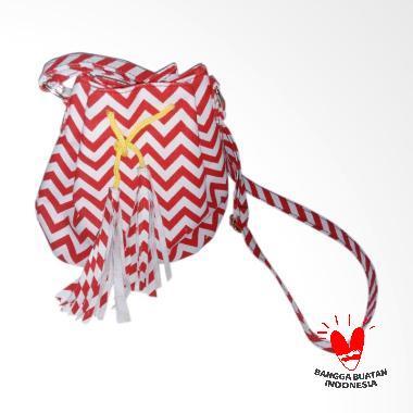 GRATZ Tassel Zigzag Sling Bag Wanita - Red