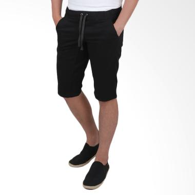 Elfs Shop Short Jogger Pants Simple ... elana Pendek Pria - Hitam