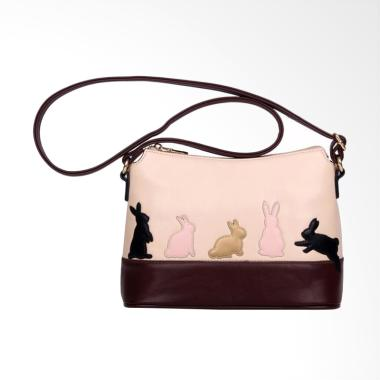 Lansdeal YHL60707186B Women Cat Rab ... dy Purse Sling Bag - Pink