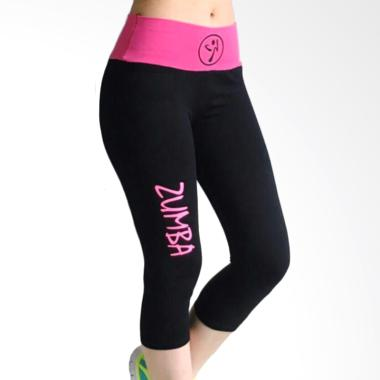 Mom Zumba Waistband 7/8 Legging Olahraga Wanita - Pink