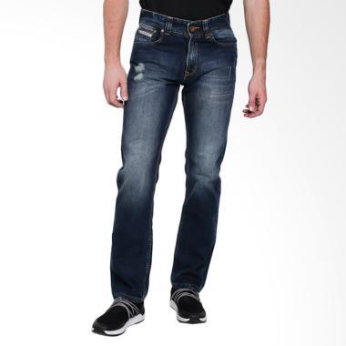 Lois Men Fashion Straight Denim Celana Panjang Pria - Blue Denim [302]