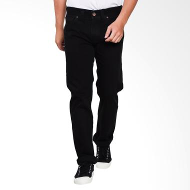 Lois Men Fashion Straight Denim Jeans Celana Pria - Black [033]